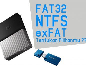 Perbedaan Format Partisi FAT32 NTFS dan exFAT
