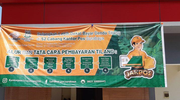 52 Daftar Kantor POS untuk Pembayaran Tilang di Surabaya